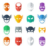 Super hero mask icon  colorful   illustration , flat style Stock Photos
