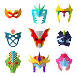 Super Hero Masks set for Characters Royalty Free Stock Image