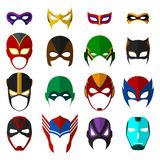 Super hero masks set. Vector EPS10 illustration Royalty Free Stock Images