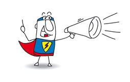 Super Hero with megaphone Royalty Free Stock Photos