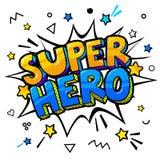 Super hero message in sound speech bubble. Comic speech bubble in pop-art style. Vector illustration Vector Illustration
