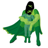 Super Hero Mom Illustration Silhouette Royalty Free Stock Images
