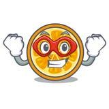 Super hero orange character cartoon style vector illustration