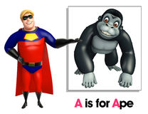 Super hero pointing Ape Royalty Free Stock Images