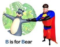 Super hero pointing Bear Royalty Free Stock Photo