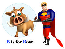 Super hero pointing Boar Royalty Free Stock Photo