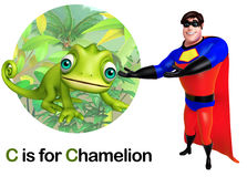 Super hero pointing Chamelion Royalty Free Stock Images