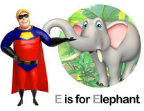 Super hero pointing Elephant Royalty Free Stock Image