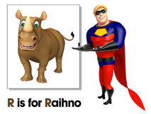 Super hero pointing Raihno Royalty Free Stock Photo