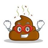 Super hero Poop emoticon character cartoon Stock Photography