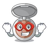 Super hero powder makeup isolated in the mascot stock illustration
