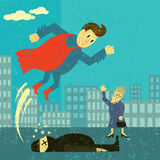 Super hero saves the day Stock Photography