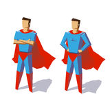 Super hero set. Super hero. Vector isolated illustration, minimalist design. Picture from set. Artwork for presentation or infographics. Vector illustration on a Stock Illustration