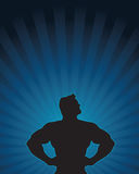 Super Hero Silhouette Stock Photography