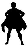 Super Hero Silhouette Royalty Free Stock Images
