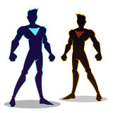 Super Hero Sillhouette Royalty Free Stock Photo