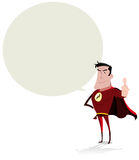 Super Hero Speech Bubble Stock Image