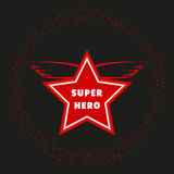 Super hero star Stock Image
