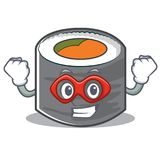Super hero sushi cartoon character style Royalty Free Stock Photos