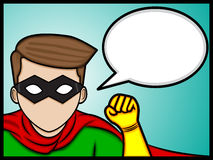 Super Hero Talk vector illustration