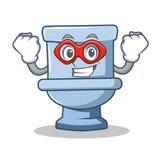 Super hero toilet character cartoon style. Vector illustration Royalty Free Illustration