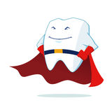 Super Hero Tooth Mascot Royalty Free Stock Photography