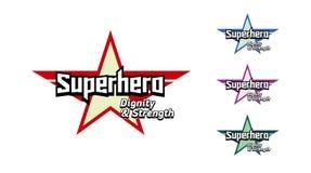 Super hero typography, Superhero t-shirt graphics Stock Photo