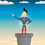Super hero. vector illustration Royalty Free Stock Photos