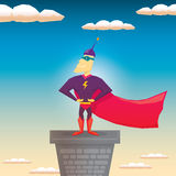 Super hero. vector illustration Royalty Free Stock Photo
