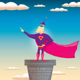 Super hero. vector illustration Royalty Free Stock Images
