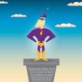 Super hero. vector illustration Royalty Free Stock Image