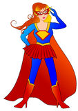 Super Hero Woman. Beautiful for illustration Royalty Free Stock Photo