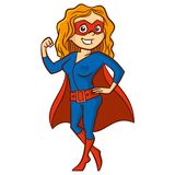 Super hero woman Cartoon character Stock Photos