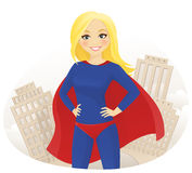 Super hero woman Stock Image