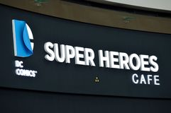 Super Heroes Cafe Stock Image
