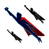 Super Heroes Flying Royalty Free Stock Photo