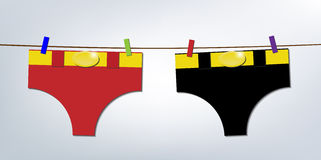 Super heroes laundry day Stock Photos