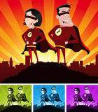 Super Heroes Male And Female Royalty Free Stock Photo