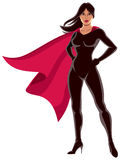 Super Heroine Asian. Asian super heroine over white background Royalty Free Stock Photos