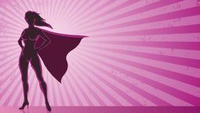 Super Heroine Background stock video