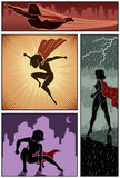 Super Heroine Banners 3 Stock Photography