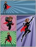 Super Heroine Banners 4 Stock Photo