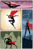 Super Heroine Banners 6 Royalty Free Stock Image