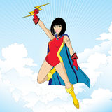 Super heroine character Stock Image