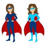 Super heroine mascot. Vector illustration. vector illustration