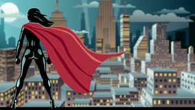 Super Heroine Watch stock video footage