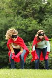 Super heros team girls Royalty Free Stock Images