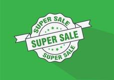 Super het pictogram van de bedrijfs verkoopzegel ontwerp Stock Fotografie