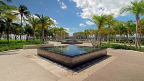 Scenic South Pointe Park Video. Super high definition video of the beautiful South Pointe Park in popular South Beach stock footage