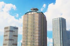 Super high rise apartment buildings Royalty Free Stock Photography